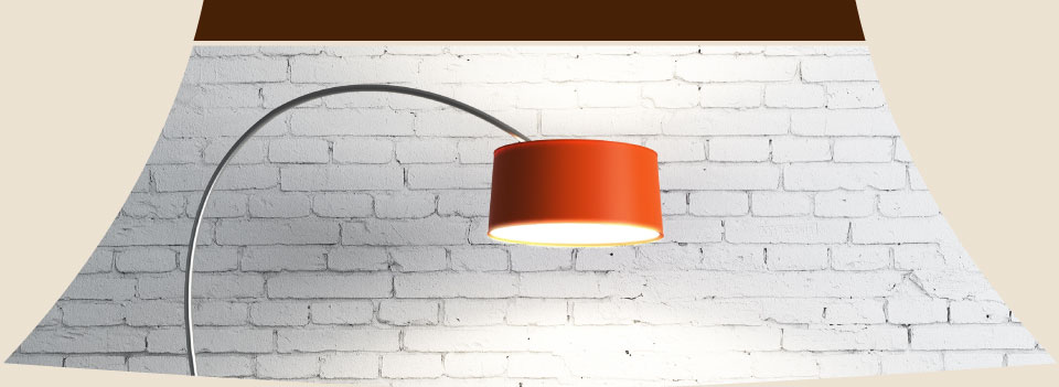 floor lamp with fabric lampshade