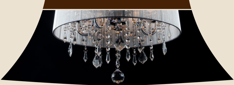 modern chandelier with crystal